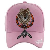 VM192 Native Pride Skull Velcro Cap (Solid Light Pink)