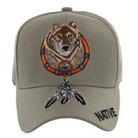 VM192 Native Pride Skull Velcro Cap (Solid Khaki)