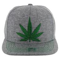 SM9011 Marijuana Snapback (Solid Charcoal)