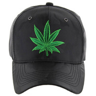 VM199 Marijuana Baseball Cap (Solid Black Camo)