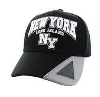 VM417 New York City Velcro Cap (Black & Light Grey)