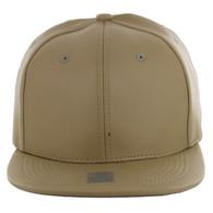 SP1001 Blank PU Snapback Hat (Solid Khaki)