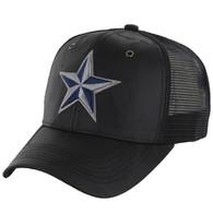 VM421 Big Star Mesh Trucker Cap (Black Camo & Black) - Stitch