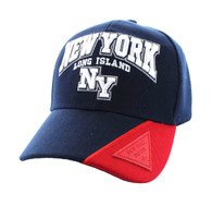 VM417 New York City Velcro Cap (Navy & Red)