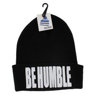 WB020 Be Humble Long Beanie (Solid Black)
