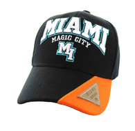 VM417 Miami City Velcro Cap (Black & Orange)