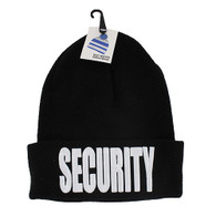WB020 Security Long Beanie (Solid Black)