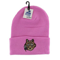 WB020 Wolf Long Beanie (Solid Light Pink)