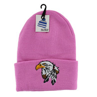 WB020 Eagle Long Beanie (Solid Light Pink)