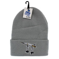 WB020 Pipe Long Beanie (Solid Light Grey)
