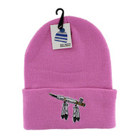 WB020 Pipe Long Beanie (Solid Light Pink)