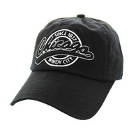 BM701 Chicago City Washed Cotton Polo Cap (Solid Black)