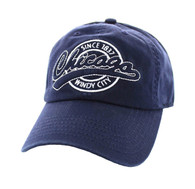BM701 Chicago City Washed Cotton Polo Cap (Solid Navy)