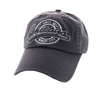 BM701 Chicago City Washed Cotton Polo Cap (Solid Dark Grey)