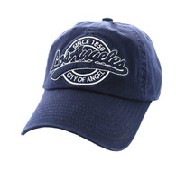 BM701 Los Angeles City Washed Cotton Polo Cap (Solid Navy)
