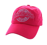 BM701 Los Angeles City Washed Cotton Polo Cap (Solid Hot Pink)
