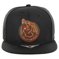 SM139 Cali Bear Snapback Hat (Black)