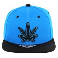 SM281 Marijuana Snapback Cap (Mint & Black)