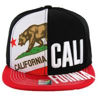 SM2002 Cali Bear Snapback (Black & Red)