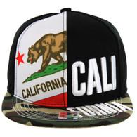 SM2002 Cali Bear Snapback (Black & Green Camo)