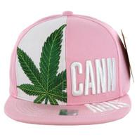SM2002 Marijuana Cannabis Snapback (Pink)