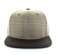 SP351 Blank Cotton Snapback (Brown & Brown)