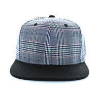 SP351 Blank Cotton Snapback (Grey & Black)