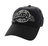 BM701 Georgia State Washed Cotton Polo Cap (Solid Black)