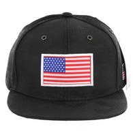 SM053 USA FLAG PATCH , STAR CAMO (BLACK)