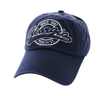 BM701 Georgia State Washed Cotton Polo Cap (Solid Navy)