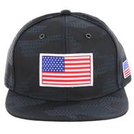 SM053 USA FLAG PATCH , STAR CAMO (NAVY)