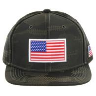 SM053 USA FLAG PATCH , STAR CAMO (OLIVE)