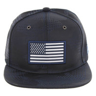 SM053 USA FLAG TACTICAL PATCH , STAR CAMO (NAVY)