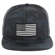 SM053 USA FLAG TACTICAL PATCH , STAR CAMO (GREY)