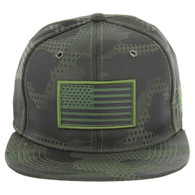SM053 USA FLAG TACTICAL PATCH , STAR CAMO (OLIVE)