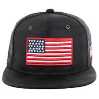 SM053 USA FLAG , STAR CAMO (BLACK)