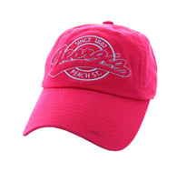 BM701 Georgia State Washed Cotton Polo Cap (Solid Hot Pink)
