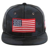SM053 USA FLAG , STAR CAMO (GREY)