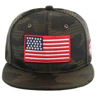 SM053 USA FLAG , STAR CAMO (BROWN)