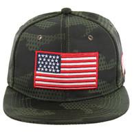 SM053 USA FLAG , STAR CAMO (OLIVE)