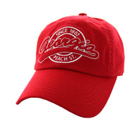 BM701 Georgia State Washed Cotton Polo Cap (Solid Red)