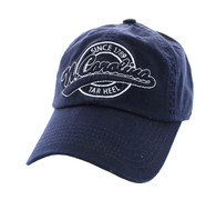 BM701 North Carolina State Washed Cotton Polo Cap (Solid Navy)