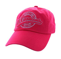 BM701 North Carolina State Washed Cotton Polo Cap (Solid Hot Pink)