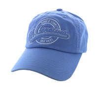 BM701 North Carolina State Washed Cotton Polo Cap (Solid Sky Blue)