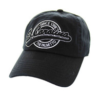 BM701 South Carolina State Washed Cotton Polo Cap (Solid Black)