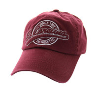 BM701 South Carolina State Washed Cotton Polo Cap (Solid Burgundy)