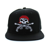 SM522 Pirate Snapback (Solid Black)