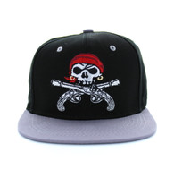 SM522 Pirate Snapback (Black & Light Grey)