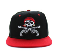 SM522 Pirate Snapback (Black & Red)