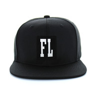 SM525 Florida State Cotton Snapback (Solid Black)